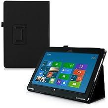 kwmobile Elegante funda de cuero sintético para Acer Aspire Switch 10 SW5-11 en negro con una práctica FUNCIÓN DE SOPORTE