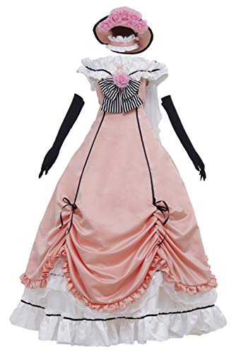 MingoTor Black Butler Ciel Phantomhive Kleid Cosplay Kostüm Damen (Ciel Cosplay Kostüm)