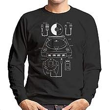 Sega Dreamcast Patent Blueprint Men's Sweatshirt