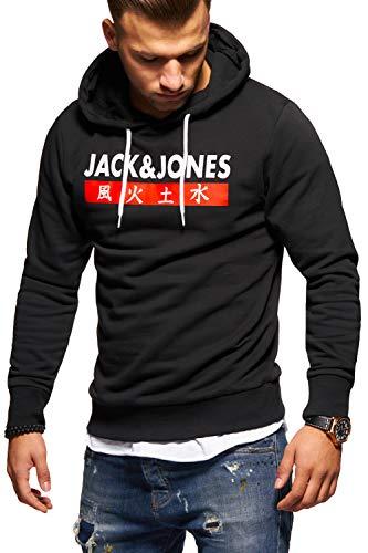 JACK & JONES Herren Hoodie Kapuzenpullover Sweatshirt Pullover Print Streetwear (X-Large, Tap Shoe)