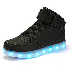FLARUT Shoes LED alte Light Up scarpe da tennis di ricarica USB Scarpe lampeggiante con telecomando per Uomo Donna Bambini Ragazzi Ragazze