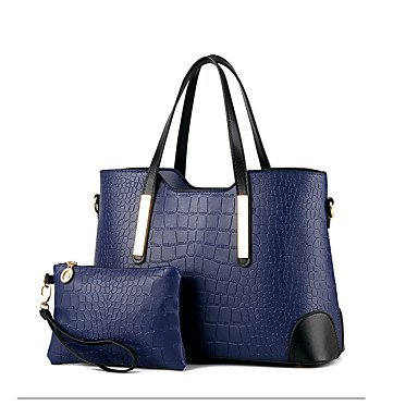 Le donne in pelle di brevetto formale / Outdoor Tote,blu Wine