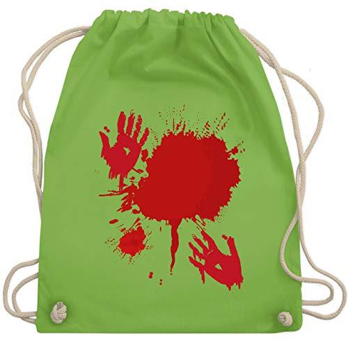 Kostüm Scream Blutiges - Halloween - Blutig Fasching Kostüm - Unisize - Hellgrün - WM110 - Turnbeutel & Gym Bag