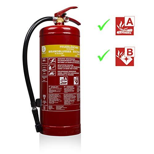 Extincteur mousse 6 litres pour feux AB, Smartwares