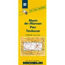 Carte routière : Mont-de-Marsan - Pau - Toulouse, 82, 1/200000