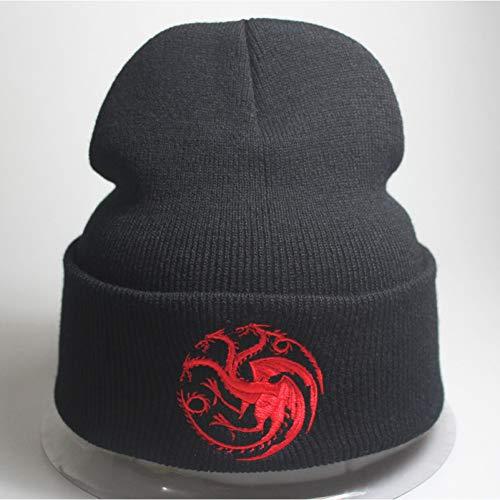 DDMGB Beanie Mütze Dragon Cap Männer Frauen Casual Hip Hop Hüte Gestrickte Beanies Hut Warme Wintermütze Für Frauen Beanie -
