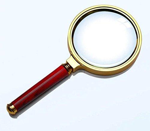 Lupe ältere Lesung Handheld Juwelen Identifikation 80mm Nachahmung Mahagoni Griff
