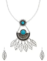 Zaveri Pearls Jewellery Set For Women (Silver) (ZPFK6462)