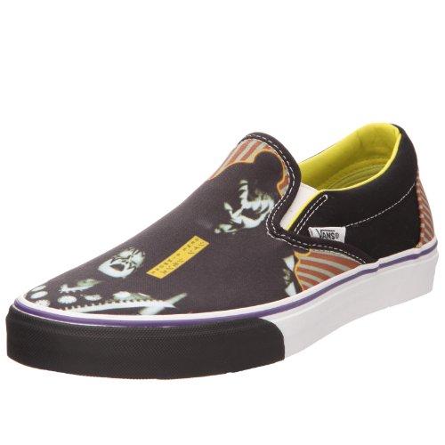 Vans U Classic Slip-on, Baskets mode mixte adulte noir imprimé multicolor/jaune