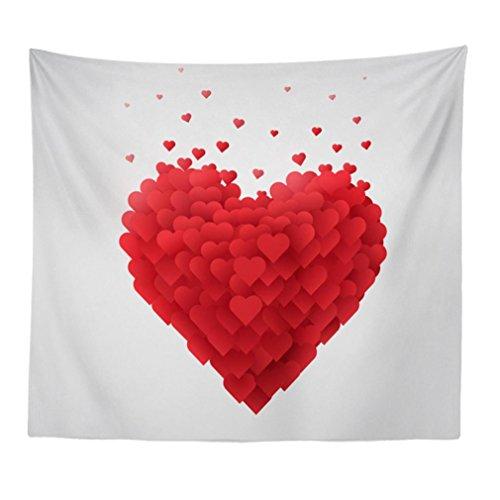 2018 Tapisserie Wandkunst ,Jaminy Neu Fröhlichkeit Valentines hanging Teppiche Decke Teppiche Tischtuch Home Decor Wandbehang(150X130cm) (A) (Quadratisch Valentine Teppich)