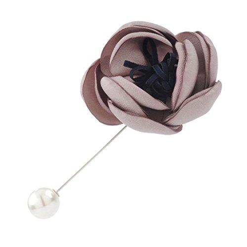 DELLT- Gioielli moda spilla Abbigliamento Accessori Giappone e Sud Corea femminile Souvenir Dabie Pin Xiongkou ( colore : Rosa ) - Giappone Strass