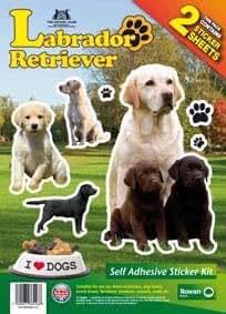 Labrador Retriever-Dog Sticker, Doppelpack, selbstklebend