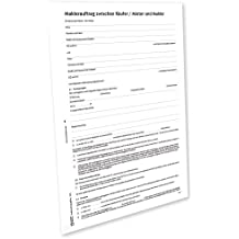 Avery Zweckform 2227e Maklervertrag Käufer/Mieter [Word-Download] [Mac]