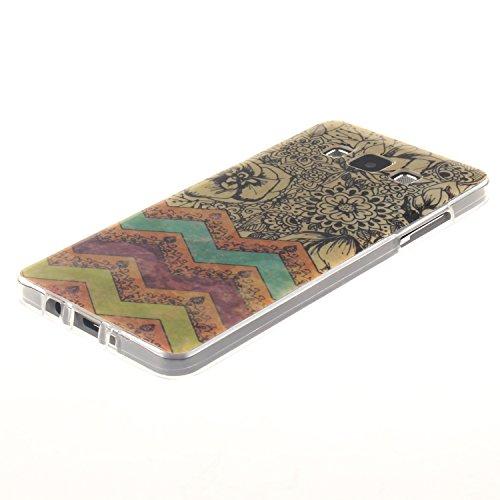 Qiaogle Telefon Case - Weiche TPU Case Silikon Schutzhülle Cover für Apple iPhone 5 / 5G / 5S / 5SE (4.0 Zoll) - TX32 / Rote love heart raindrops TX48 / Schwarz Blume + Welle