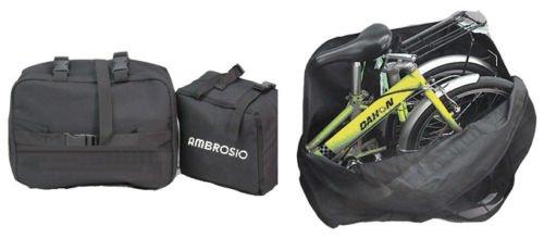 "Ambrosio Brompton–Compatible Negro Bolsa para 20""Bicicleta Plegable"