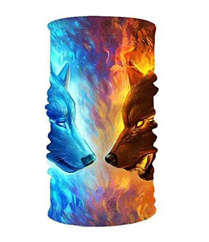 Pearl Ice Mask (WTZYXS Ice and Fire 16-in-1 Magic Scarf,Face Mask,Balaclava Bandana for Outdoor Sports 10 * 20inchs)