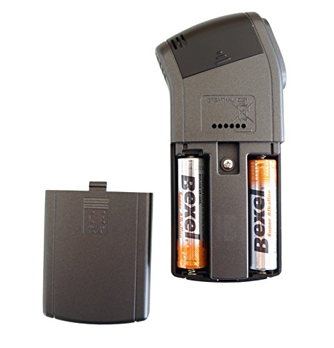 Alkoholtester Trendmedic Alcofind DA-8000 | mobiles digitales Atem-Alkoholmessgerät mit langzeitstabilen Fuel-Cell-Sensor bis 5.00‰ | polizeigenau | inkl. 25 Zusatzmundstücken - 5