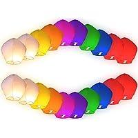 Sky Lantern 20 PEZZI Lanterne lanterna cinese cinesi Volanti MONGOLFIERA COLORATE matrimonio party feste
