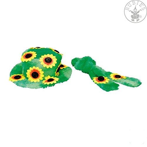 Hut Sonnenblumen (Hippie Hut und Schal grün)
