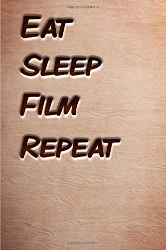 Eat sleep Film Repeat: woodworking books notebook&Journal Film Lovers /WoodCarver Mallet Woodwork FilmGift ,(Vintage Wood Designs , Old Paper, wooden Sketches, Diary, Composition Book), Lined Journal