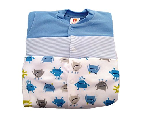 Baby Grow Minni Berry Long Sleeve Cotton Sleep Suit Romper Set of 3 For Boy (3-6M)