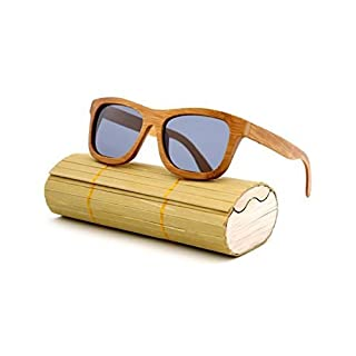 BFMEI Handgemachte Walnuss Qualität Sonnenbrille Für Männer Und Frauen,A1
