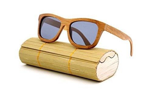PersonaliseWise Handgefertigt aus Holz Sonnenbrille, polarisierte Gläser, aus natürlichem Bambus, Herren/Damen Sonnenbrille