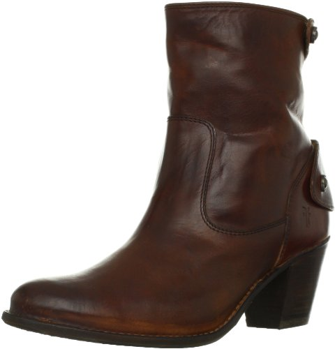 FRYE Women's Jackie Zip Short Boot, Redwood, 9 M US (Boot Zip Short)
