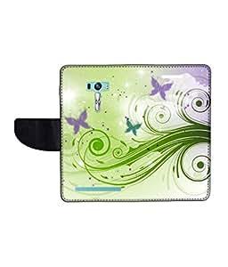 KolorEdge Printed Flip Cover For Asus Zenfone Selfie ZD551KL Multicolor -(1479-55KeMLogo11506ZenSelfie)
