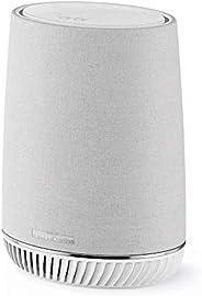 Netgear Orbi Wifi Mesh AC3000 RBS40V, repetidor WiFi adicional con altavoz Alexa integrado, cobertura tribanda
