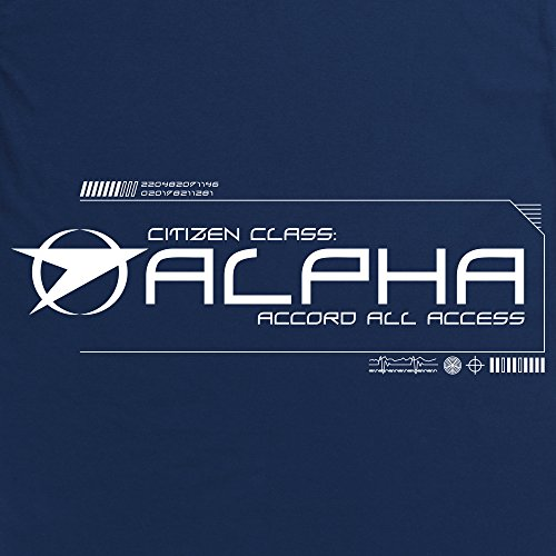 Official Blake's 7 T-Shirt - Grade Alpha, Herren Dunkelblau