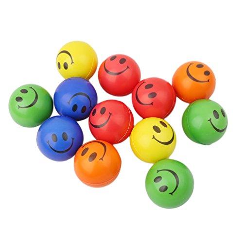 ji Squishy Smiley Bouncy Ball entspannbare Squeeze Ball Knautschball Antistressball Stress Relief Spielzeug Gelegentliche Emoji-Bälle (lächle) (Smiley-bälle)