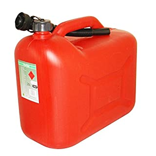 20 L Litre Red Plastic Petrol Fuel Can Cannister