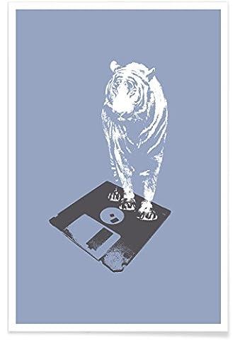 """JUNIQE® Poster 80x120cm Insekten Musik - Design """"Oldskool 5"""" (Format: Hoch) - Bilder, Kunstdrucke & Prints von jungen Künstlern entworfen von Evita Witzenhausen"""