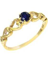 a12486c796b1a7 9ct Yellow Gold Natural Sapphire Womens Solitaire Ring - Sizes J to Z  Available