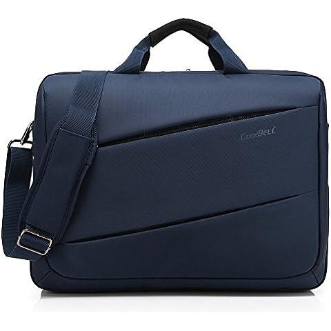 17,3pulgadas unisex Laptop Bolso Bandolera de Oxford de gamuza con correa Messenger Tablette maletín múltiples bolso para Ipad Pro/MacBook/Dell Alienware para hombres/mujeres azul