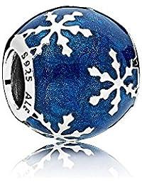 Pandora Damen Charm blau Winterliche Freude 796357EN63