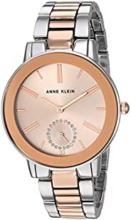 Anne Klein Women's Swarovski Crystal Accented Bracelet Watch Silver-Tone and Rose Gold-