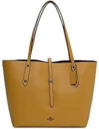 edd147a31c7f Coach Market Polished Flax Leather Tote Bag