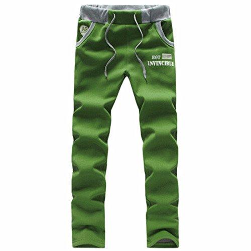 Men's Italy Printed Harem Drawstring Trousers green