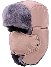 b61da79b71d iTemer Unisex Winter Trooper Trapper Hat Warm Bomber Hat Russian Hunting Hat  with Ear Flap Mask