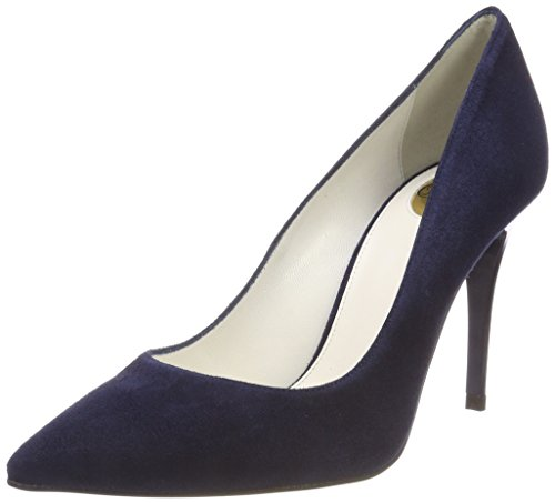 Buffalo Damen 11877-305 Kid Suede Pumps, Blau (Marino), 39 EU