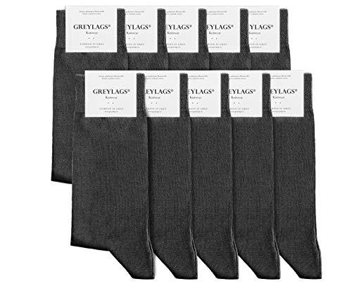 Greylags Premium 10er Pack Businesssocken Socken für Damen und Herren, Grau, Größe 39-42