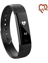Toksum® Alfa HR® Smart Band   Alta HR Alternative de la fréquence cardiaque de santé Fitness tracker d'activité podomètre Bracelet montre   pour enfants, homme et femme   pour iPhone et Android