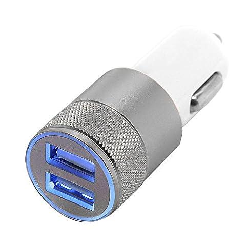 ✨ Net Solutions ✨ Chargeur Voiture 2 Ports en métal,