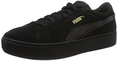 Puma Damen Vikky Platform Sneakers, Schwarz (Puma Black-Puma Black 01), 39 EU