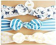 COUXILY bebé-niñas diademas de algodón suave arco anudada Hairband Headwrap Elastic Bow Turbante aros de pelo