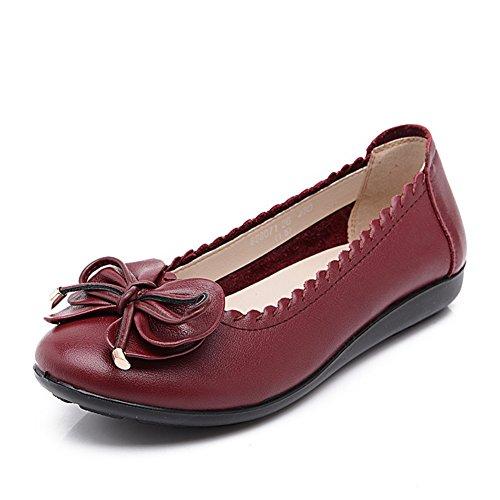 Mittleren lässige Damenschuhe Schuhs Des Damenschuhe flachen Mama Am Weichen Asakuchi Ende B Alters damenschuhe CptwqRx