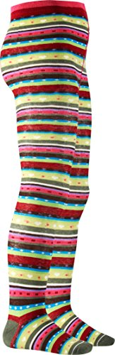 Playshoes Mädchen 499010 farbenfrohe Strumpfhose Ringel Mehrfarbig (900 original) 74/80