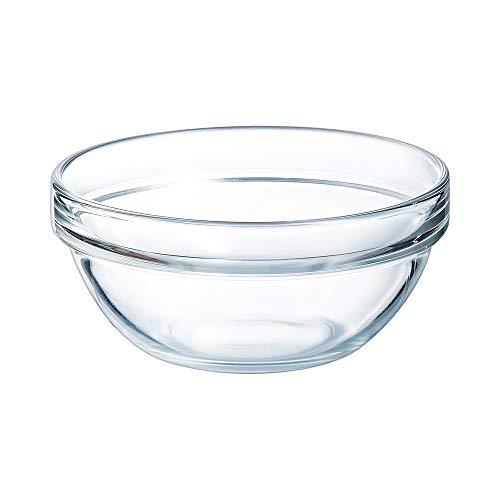 Arcoroc 10000 Saladier Empilable 38,5 cl en verre trempé, 12 cm